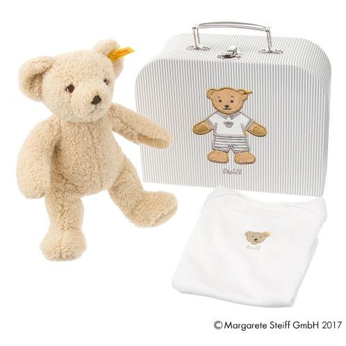 シュタイフ シュタイフペーパースーツケース付肌着&テディベア …¥10800の在庫を確認する