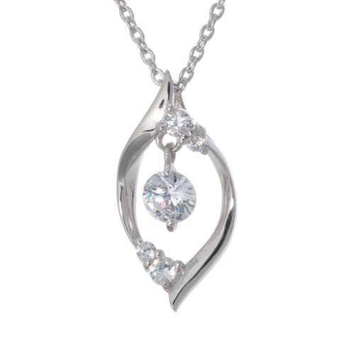 ジアモンドホムラ 焔ジアモンド シルバースウィングストーンCZデザインペンダント(シルバー ペンダント・ペンダントトップ ジュエリー)の画像
