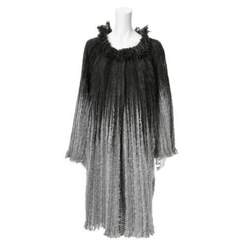 ペ ドゥ シュンボ ペ ドゥ シュンボストライプデザインロングコート(コート ファッション)の画像