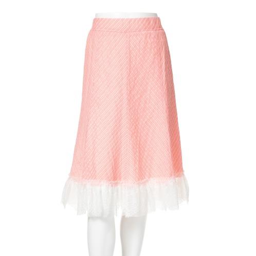 ジンカトー ジン・カトードビー織フレアースカート(スカート ファッション)の画像