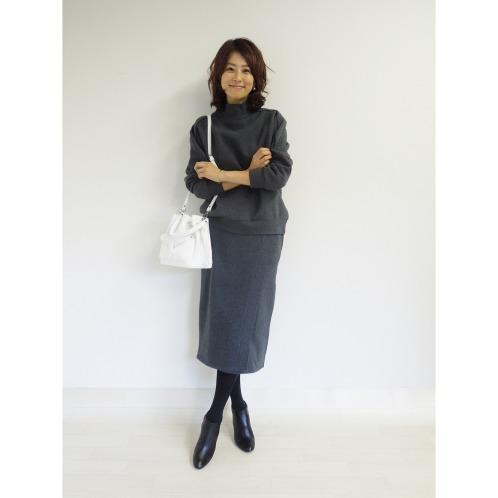 クワンティシ クワンティシ裏起毛スウェットスカート(スカート ファッション)の画像