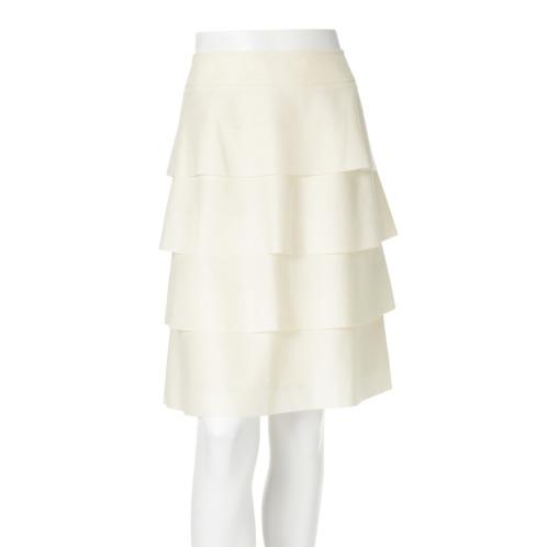 ボンサンス ボン・サンス圧縮ウールティアードデザインスカート(スカート ファッション)の画像