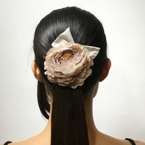 ギンカウィンカ ギンカウィンカフラワーモティーフリボン付きパッチンピン(その他 ファッション)の画像