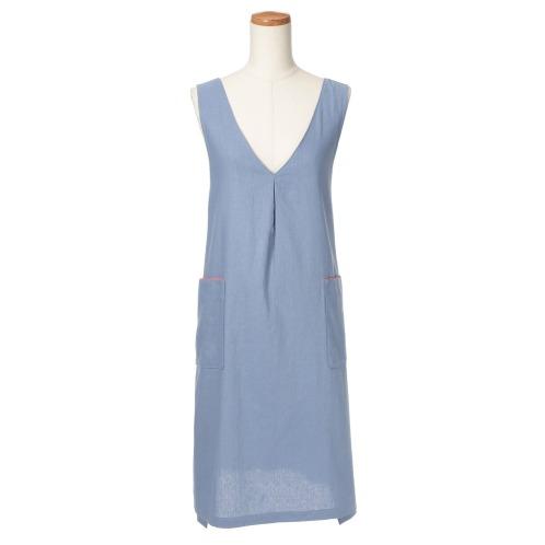 ブルーミング リネン混2ウェイエプロンドレス(ファッション雑貨 ホーム・インテリア)の画像
