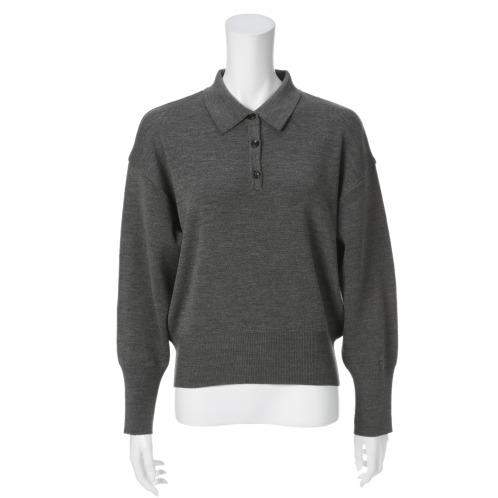 サ・アンノ サ・アンノポロカラーニットプルオーバー(セーター ファッション)の画像