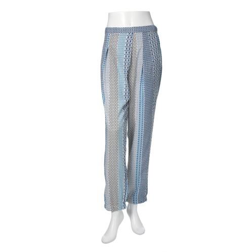 クリストフ・ソヴァ クリストフ・ソヴァジオメトリックプリントストレートパンツ(パンツ ファッション)の画像