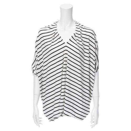 ピアチェリーナ ピアチェリーナイタリア素材ボーダープルオーバー(トップス ファッション)の画像