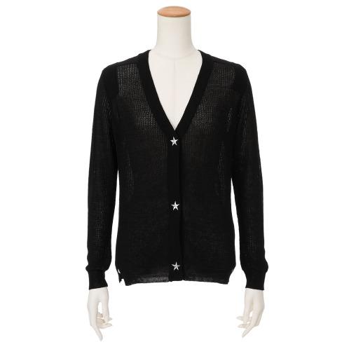 ラ ヴァーグ デトワール ラ ヴァーグ デトワール星柄刺しゅうアクセントニットカーディガン(セーター ファッション)の画像