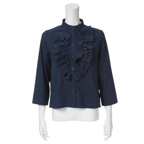 ラブパラダイス 24 ラブパラダイスラッフルフリルアクセント八分袖ブラウス(トップス ファッション)の画像