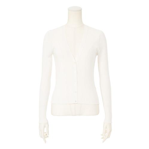 デミルクス ビームス デミルクス ビームスワイドリブVネックカーディガン(セーター ファッション)の画像