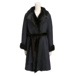 メリオン スペイン産ムートン 美襟コート