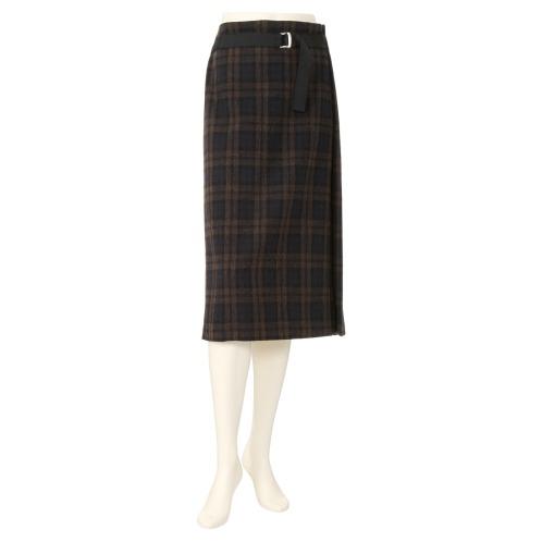 エアリーフェアリー ウール混ツイード チェック柄スカート