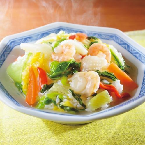 <塩味16袋 お買い得セット> 青山シャンウェイ 佐々木シェフ 海鮮と野菜の中華丼
