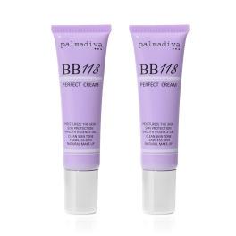 パルマディーバ 国産 ヒト由来幹細胞エキス配合 贅を極めた美容液ファンデ BB118プラス パーフェクトクリーム 2本セット