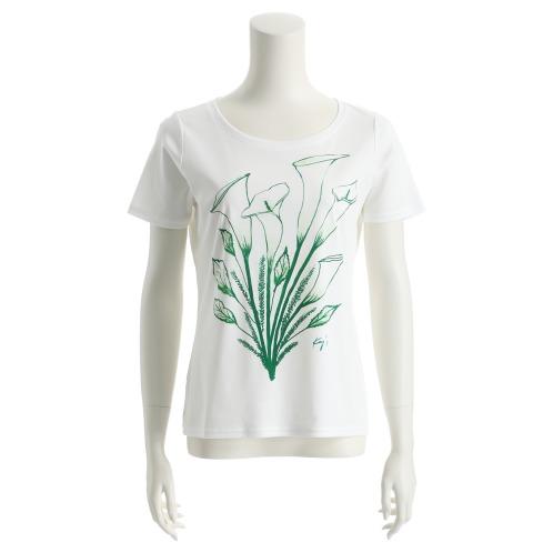 ケイズコットンフラワープリントTシャツ