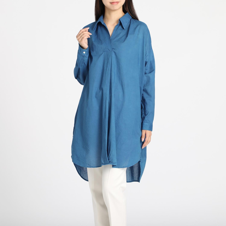 3fe0522bfd892 フレア ブラックレーベル 阿波正藍染 シャツチュニック ファッション ...