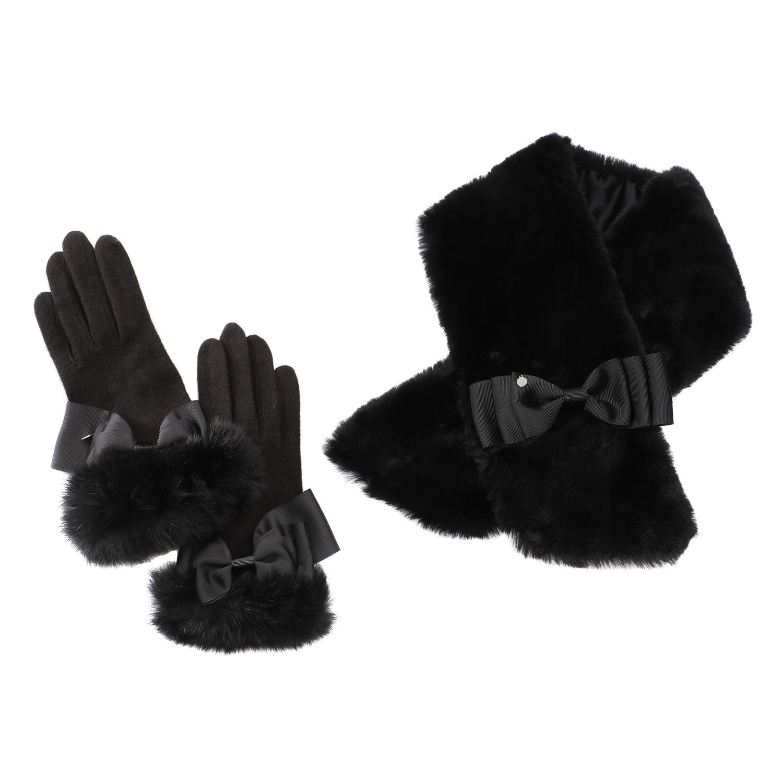 3dc89d51d4b2 ラ ルイス リボンアクセント ティペット&グローブ 靴・バッグ・小物・インナー ファッション小物 手袋 ラ ルイス |通販・テレビショッピングのショップチャンネル