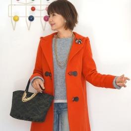エムズ スタイル装飾チェーン付キルティングトートバッグ