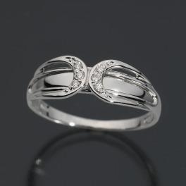 エムイー・ブリランテ プラチナ900 ダイヤモンド クロスラインリング