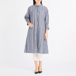 リフレッシング バイ アツロウタヤマ ストライプデザイン ロングシャツ