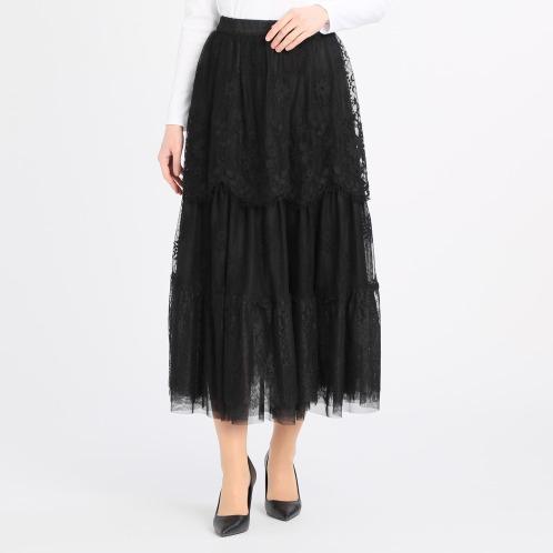 ジン・カトーランウェイコレクションペチコート付ティアードスカート