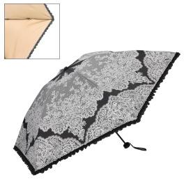 ジュエルレース バイ ブルーミング 軽量&コンパクト 晴雨兼用折りたたみ日傘 収納バッグ付