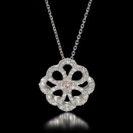 プラチナストーリー プラチナ950 憧れのピンクダイヤモンド アラベスクデザイン ペンダント <鑑定書付>
