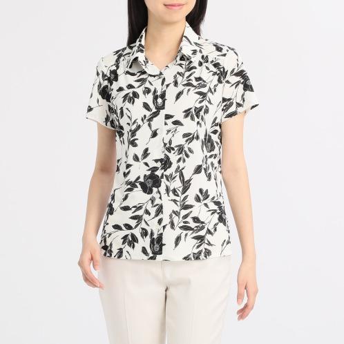 ナラカミーチェフラワープリント半袖シャツ