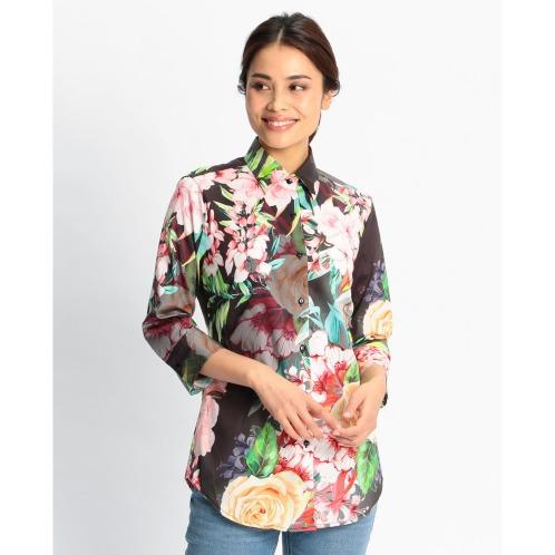 ナラカミーチェフラワープリント七分袖シャツ