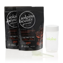 """おいしく飲んで美をサポート! 植物性たんぱく質配合 """"ソライナ・ビューティープロテイン""""2袋セット"""