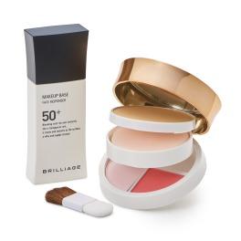 ブリリアージュ 10周年 夏限定 SPF50+の化粧下地&ツヤと透明感の パウダリーファンデ 特別セット