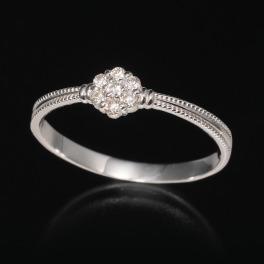18K ダイヤモンド フラワーデザイン リング