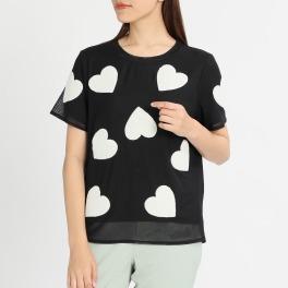 エアリーフェアリー ハート刺しゅうデザイン Tシャツ