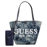 GUESS? ポーチ付 トートバッグ