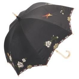 シノワズリーモダン 15周年記念 女優日傘プレミアム 牡丹亀甲刺しゅう かわず張り 晴雨兼用傘