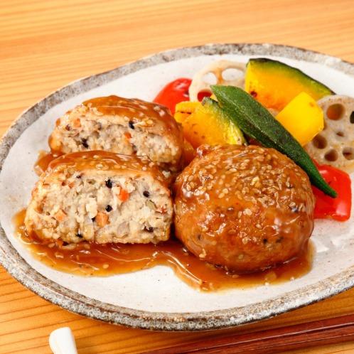 お肉の旨み 7種の野菜入り肉団子 (黒酢あんかけ)