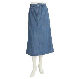 ホープナチュラル カイハラ社ライトデニム ウエストギャザーデザイン スカート